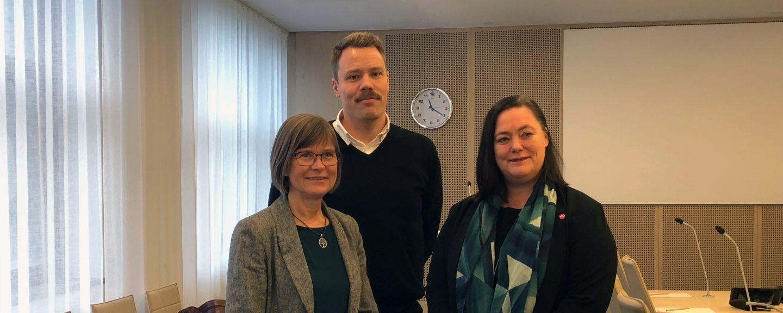 Daniel Bernmar, Karin Pleijel och Stina Svensson