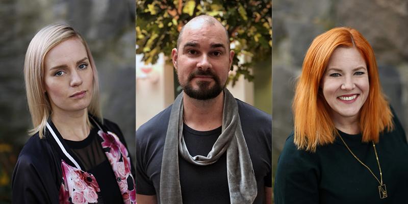 Från vänster: Hannah Klang, Christian Larsson, Johanna Eliasson