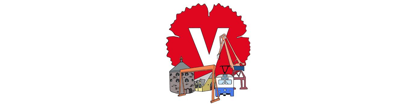 Bild på vänsterpartiets logotyp